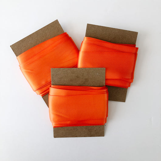 ribbon orange satin