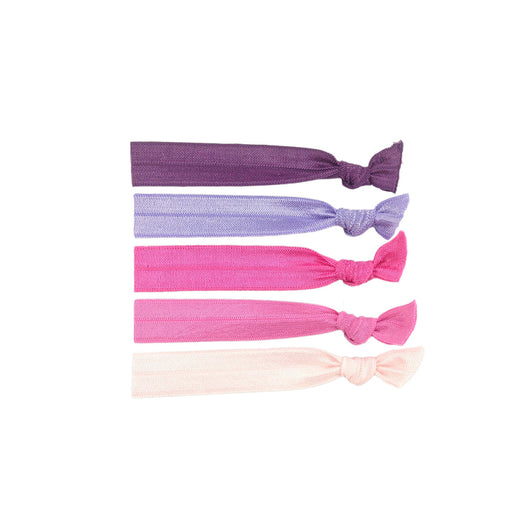 Stretchy Hair Ties 5 Pack - Blush
