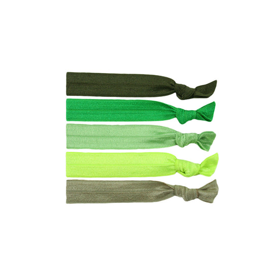 Stretchy Hair Ties 5 Pack - Grassy