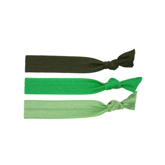 Stretchy Hair Ties 3 Pack - Green Love