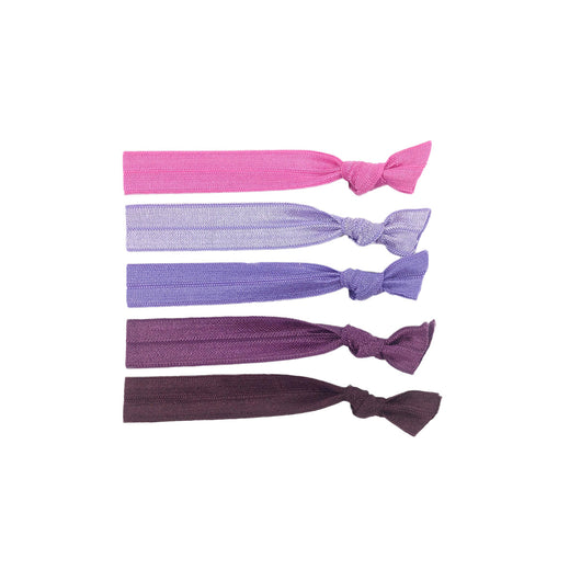 Stretchy Hair Ties 5 Pack - Jewel
