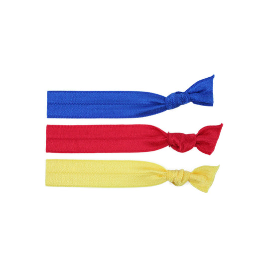 Stretchy Hair Ties 3 Pack - Primary Love