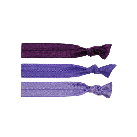 Stretchy Hair Ties 3 Pack - Purple Love