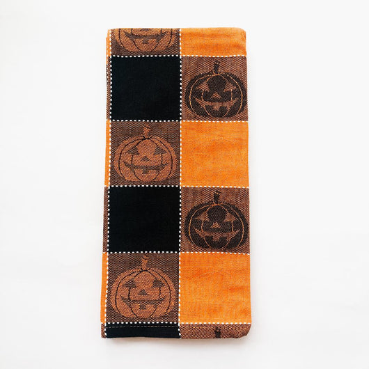 dish towel plaid pumpkin