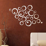 Circle Mirror Wall Stickers (24 pcs) - Blue Sky Deals