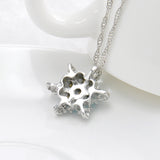 Crystal Snowflake Pendant and Necklace - Blue Sky Deals