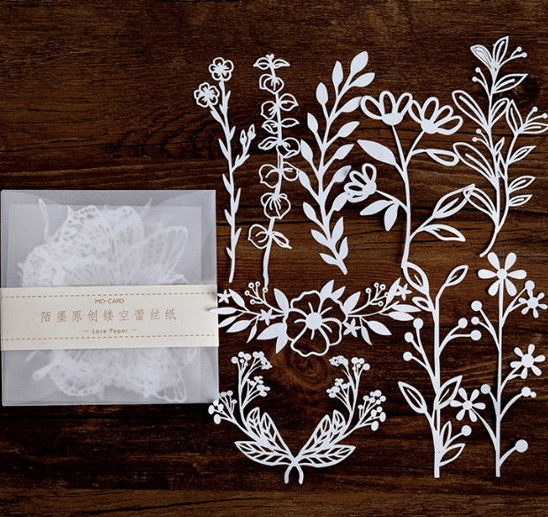 Lace Paper - Flowers & Leaves