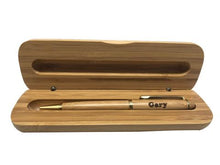 Engraved Bamboo Pen + Box