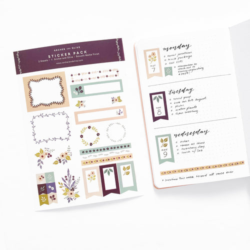 Bullet Journal/Planner Stickers - Be Mine