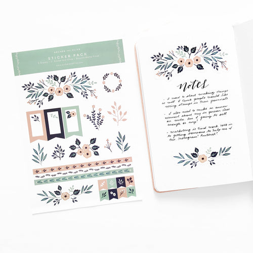 Bullet Journal/Planner Stickers - Spring