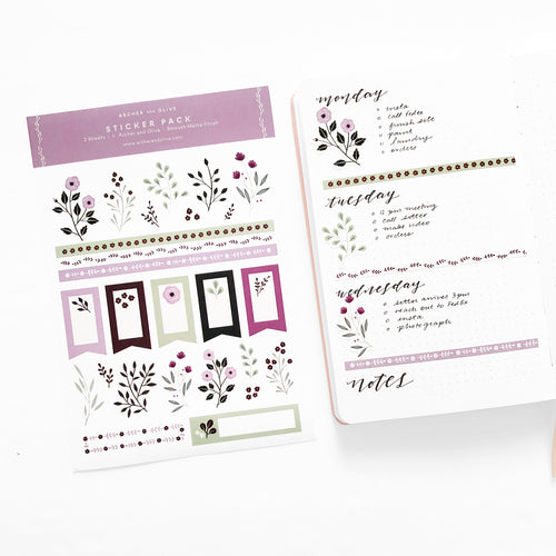 Bullet Journal/Planner Stickers - Berries