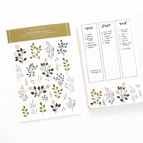 Bullet Journal/Planner Stickers - June
