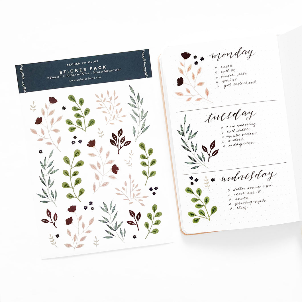 Bullet Journal/Planner Stickers - Autumn