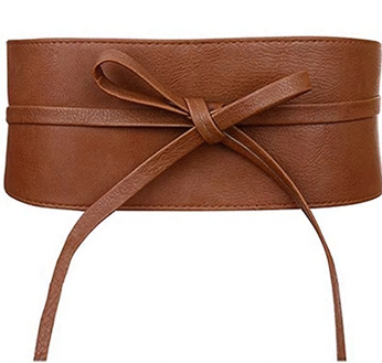 Bowknot Faux Leather Wrap Belt