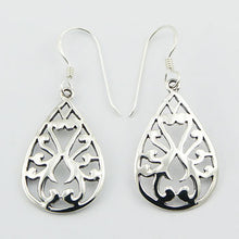 925 Slver Curved Ajoure Drop Earrings