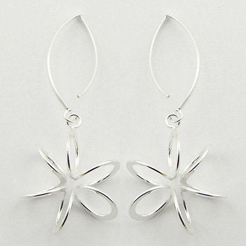 925 Silver Delicate Blossoms Silver Wirework Drop Earrings