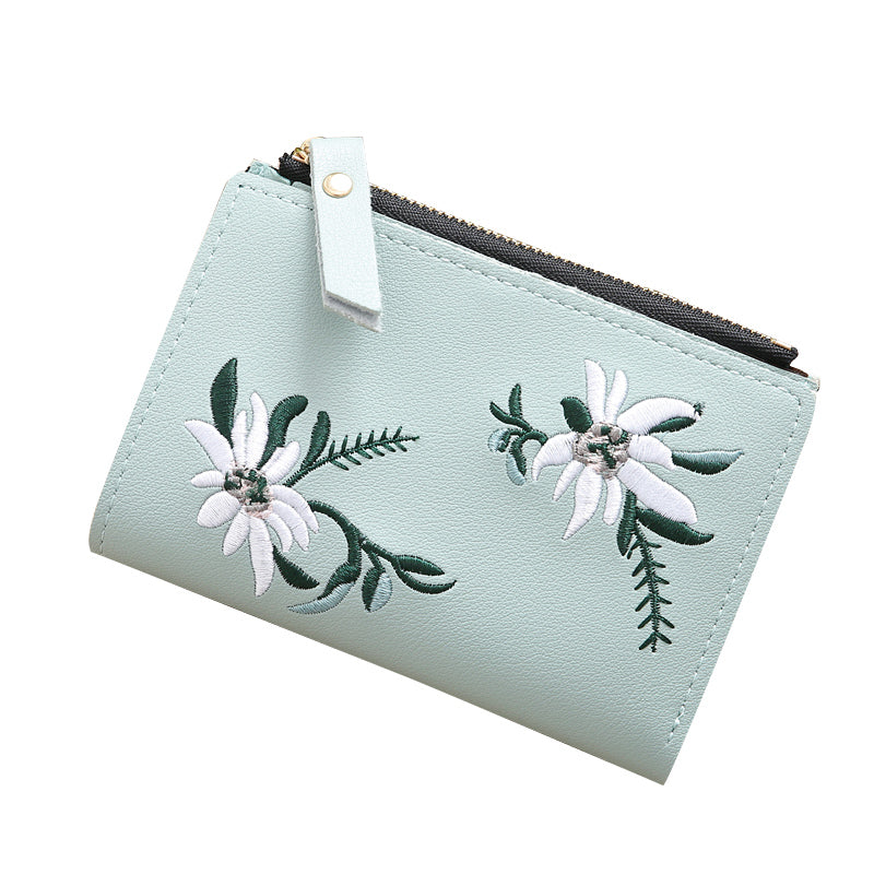 Embroidered Mini Wallet