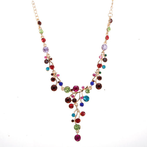 Gorgeous Colours Rhinestone Necklace
