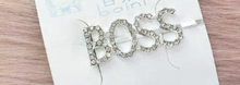 Rhinestone Word Hairpins