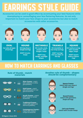 Earrings Style Guide Infographic - Eleganz n Grace - The Style Shoppe