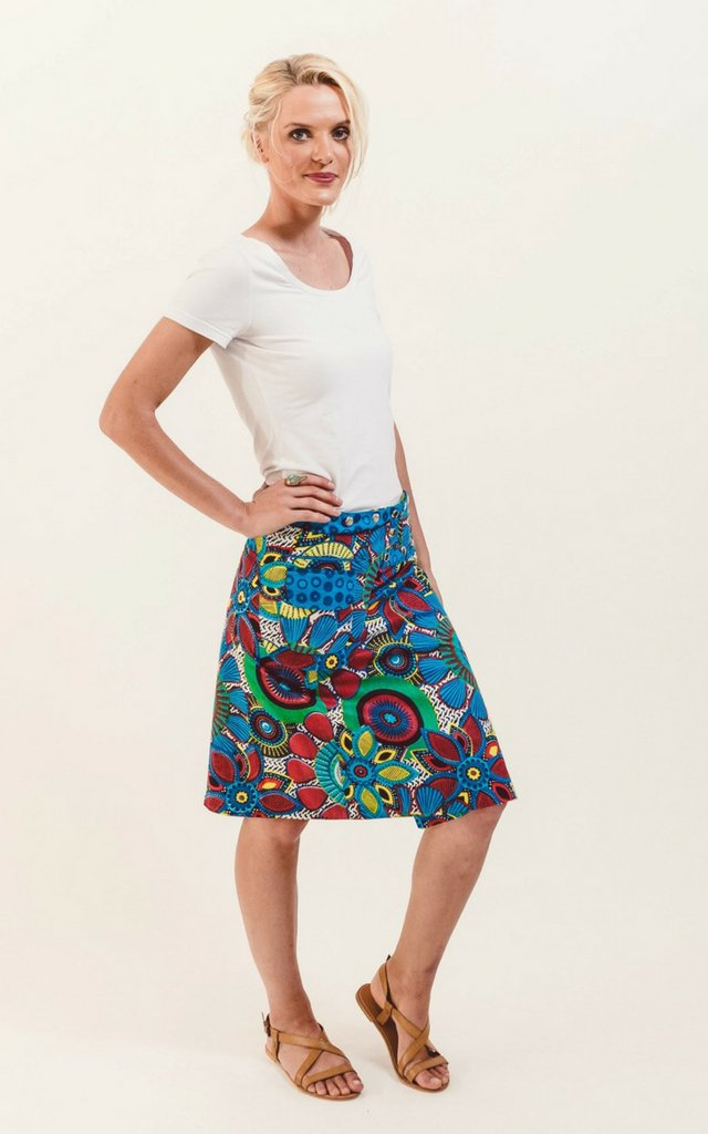 Reversible Skirt in Petal Floral Print