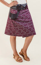 Reversible Skirt in Plum Floral Print