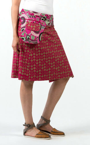 Reversible Skirt in Rose Floral Print