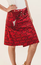 Reversible Skirt in Ruby Floral Print