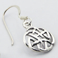 925 Silver Celtic Knot Round Openwork Danglers