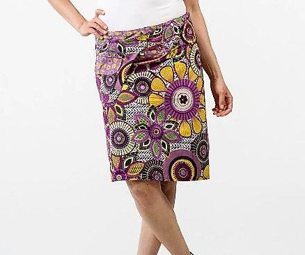 Reversible Skirt in Purple Floral Print