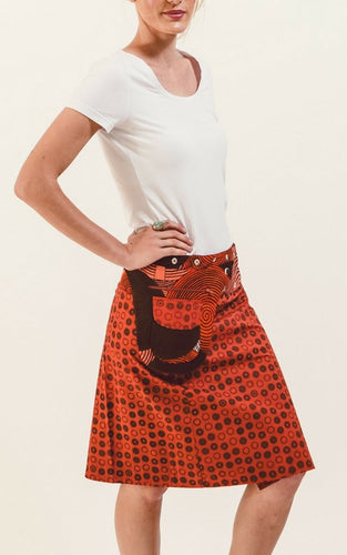 Reversible Skirt in Tangerine Floral Print