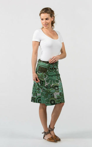 Reversible Skirt in Tree Green Floral Print