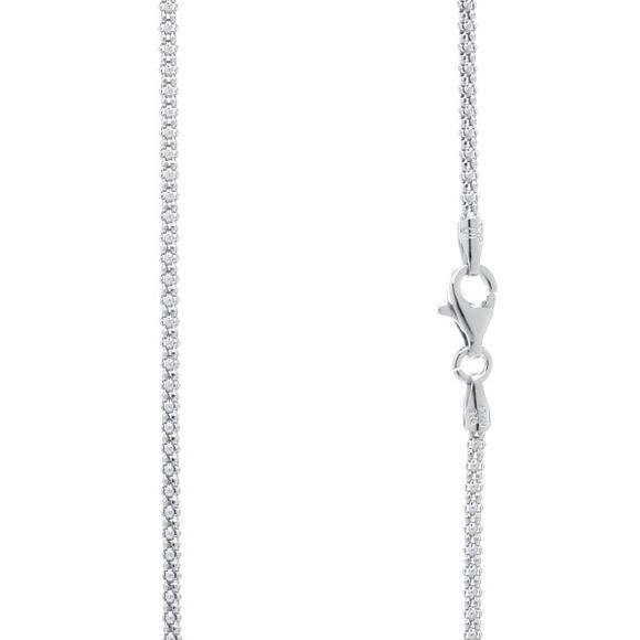 925 Sterling Silver Popcorn Chain 1.7 mm