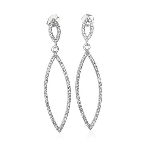 Elegant CZ Micropave Earrings