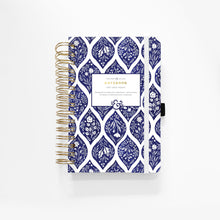 A5 Spiral Bound Dot Grid Notebook - Fleur De Blue
