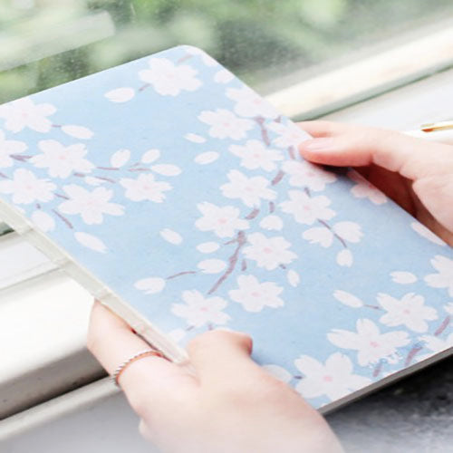 Kawaii Planner Bujo Drawing Note Book - Late Cherry Blossom