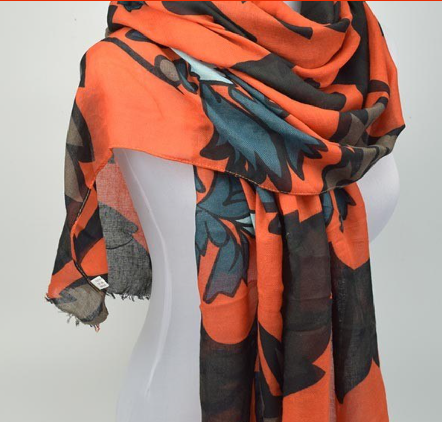 Vibrant Cotton Twill Scarf