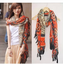 Boho tasseled scarf - Eleganz n Grace - The Style Shoppe