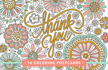 Thank You Colouring Postcards