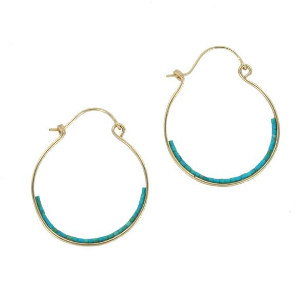 beaded turquoise earrings by double happiness jewelry