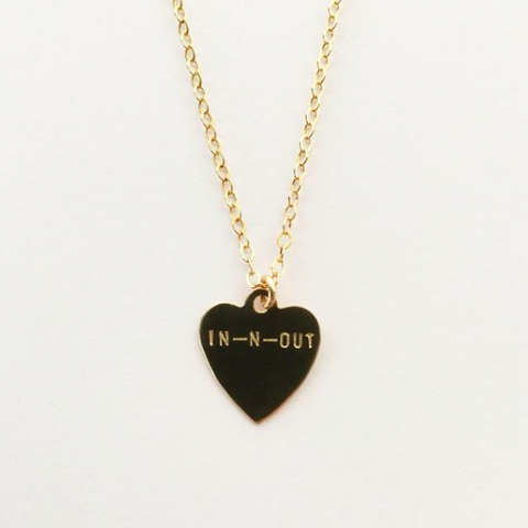 hand stamped in n out necklace shoppe california