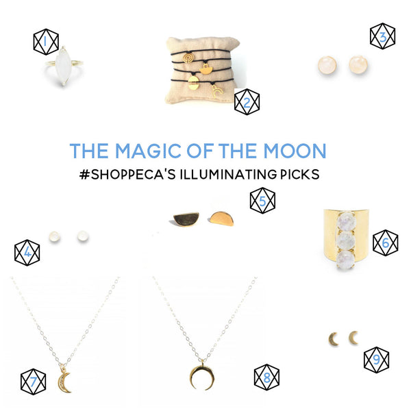 moon inspired handmade jewelry