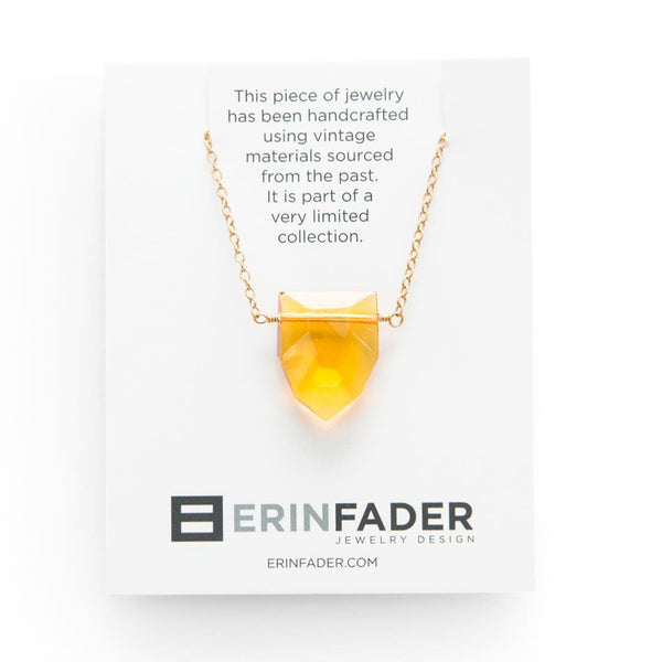 Vintage topaz necklace by Erin Fader Jewelry