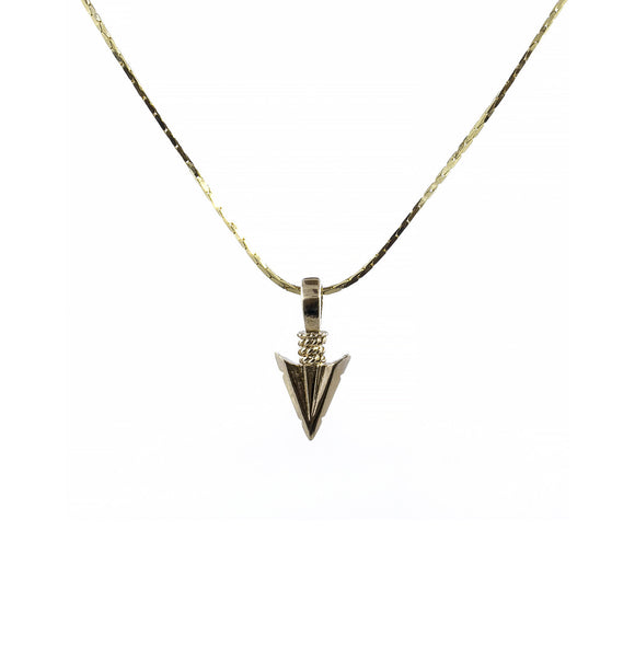 Handmade arrow charm necklace by Erin Fader Jewelry