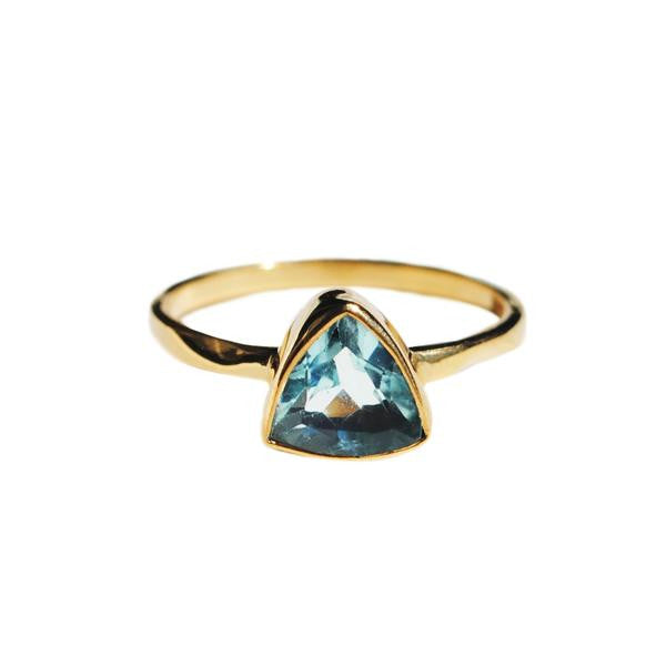 aquamarine triangle ring by love tatum