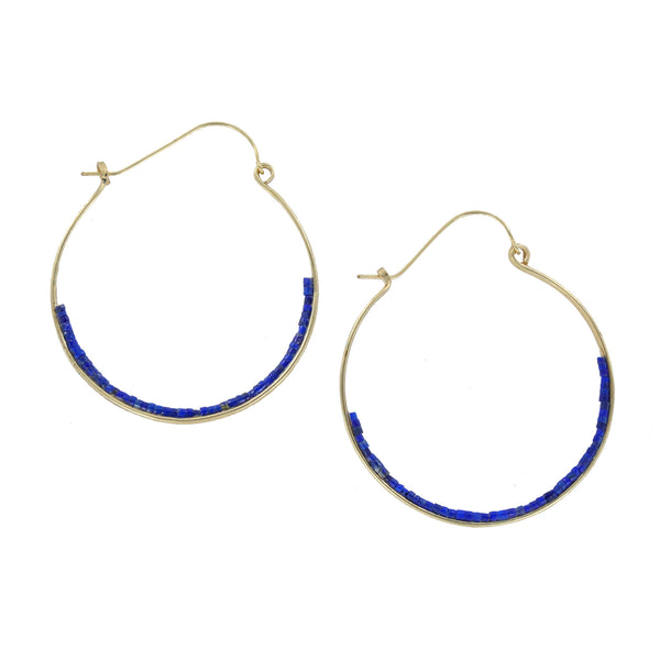 Bridget Lapis Earrings