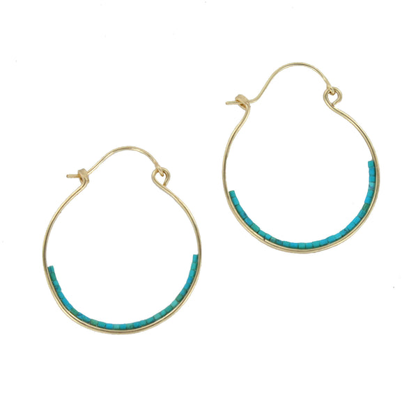 Bridget Small Turquoise Earrings