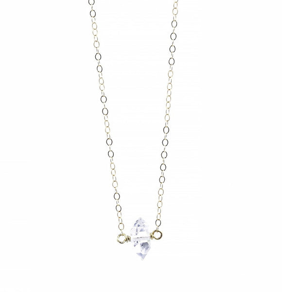 herkimer diamond necklace by Erin Fader Jewelry