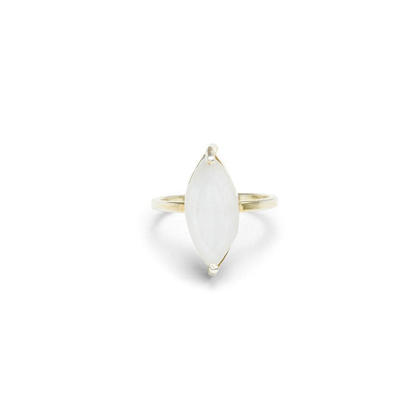 moonstone marquis gemstone ring by Erin Fader Jewelry