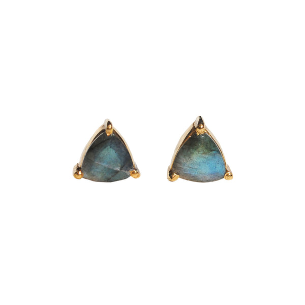 handmade labradorite stud earrings by love Tatum with gemstone meanings